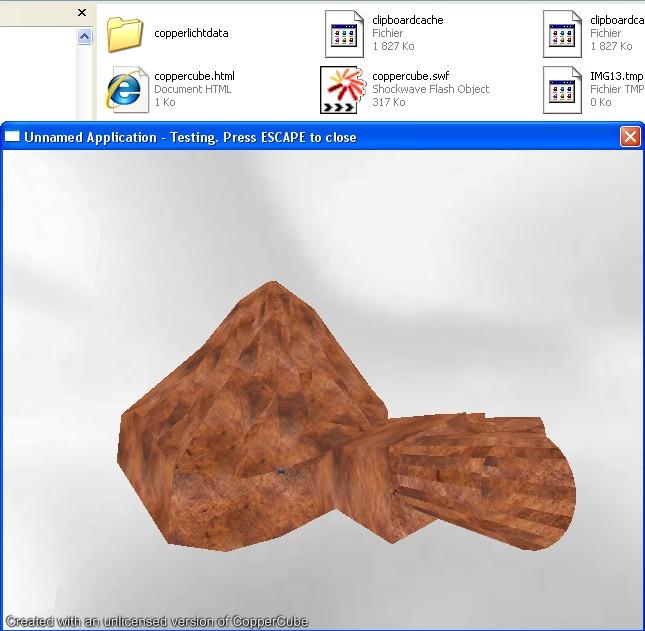 X3Dom: la pont entre x3D et WebGL Coppercube